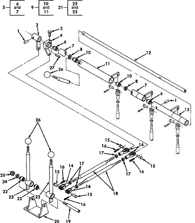 Hydraulic Control Linkage : Figure hydraulic control levers and linkage