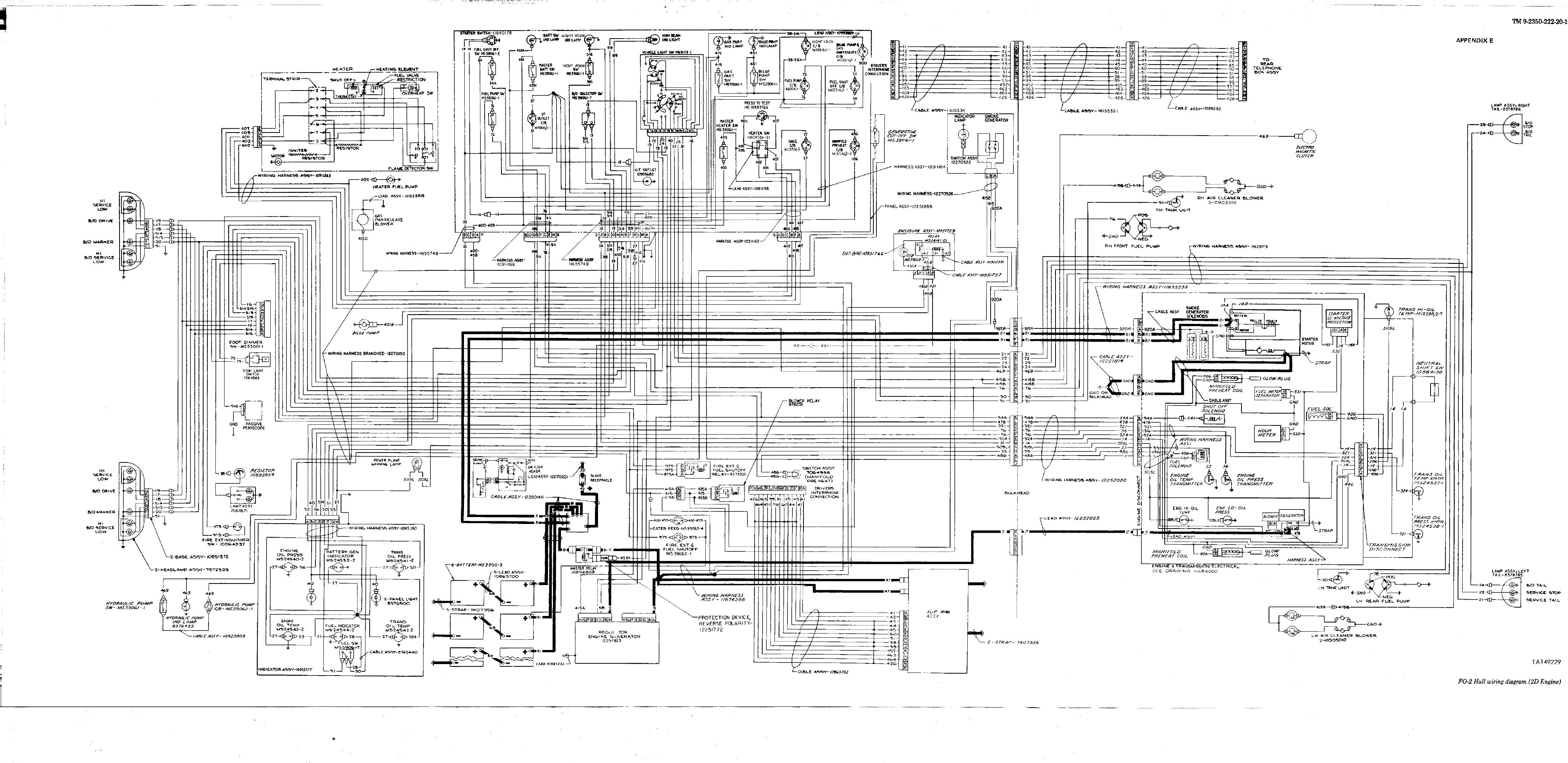 TM 9 2350 222 20 1 50914im fo 2 hull wiring diagram (2d engine) 2d wiring diagram at gsmx.co